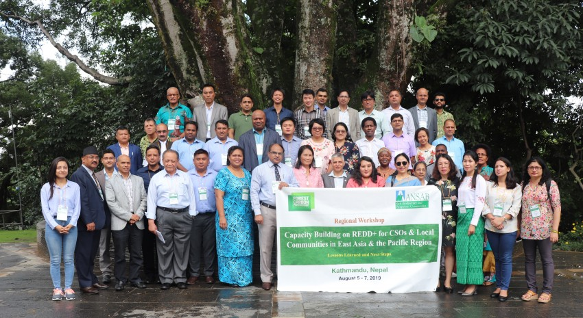 ANSAB convenes the REDD+ Asia Pacific Level Regional Workshop in Kathmandu