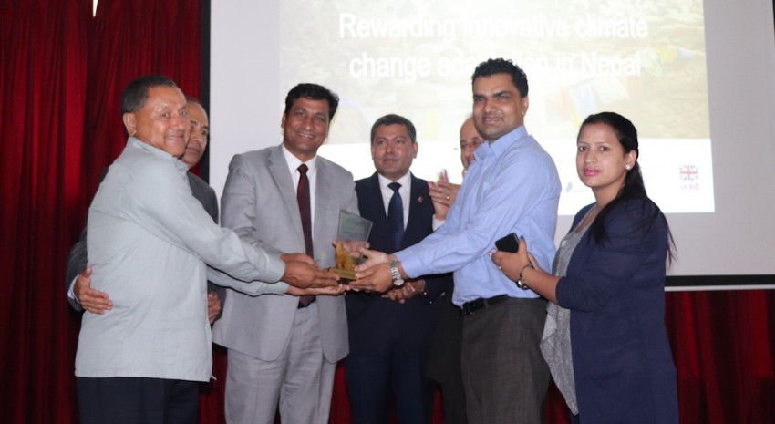 ANSAB receives the first prize of the Adaptation at Scale Karyanwayan Prize